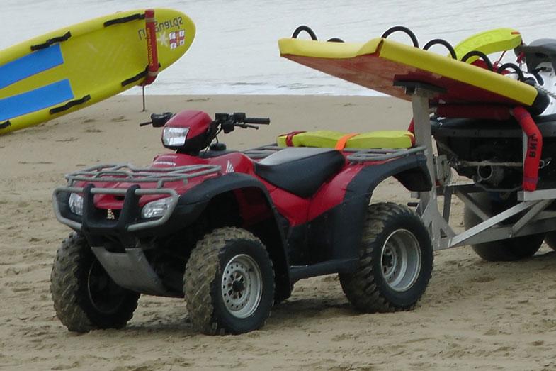 ATV Bike Pulling Jet Ski