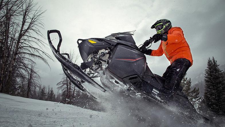 Black Snowmobile Jump