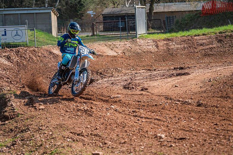 Blue Dirt Bike