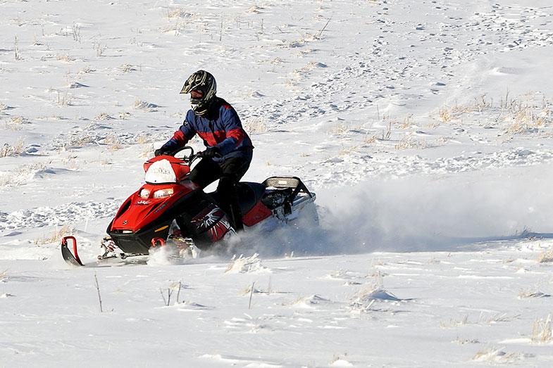 Fast Snowmobile