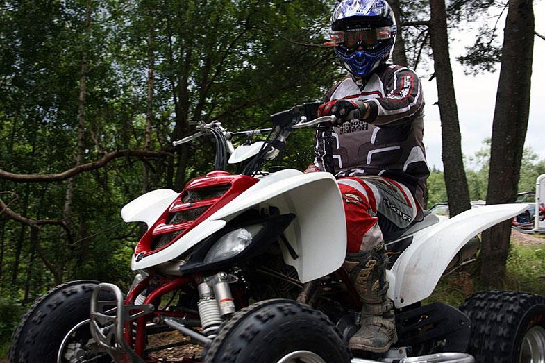 Red and White Quad Bike