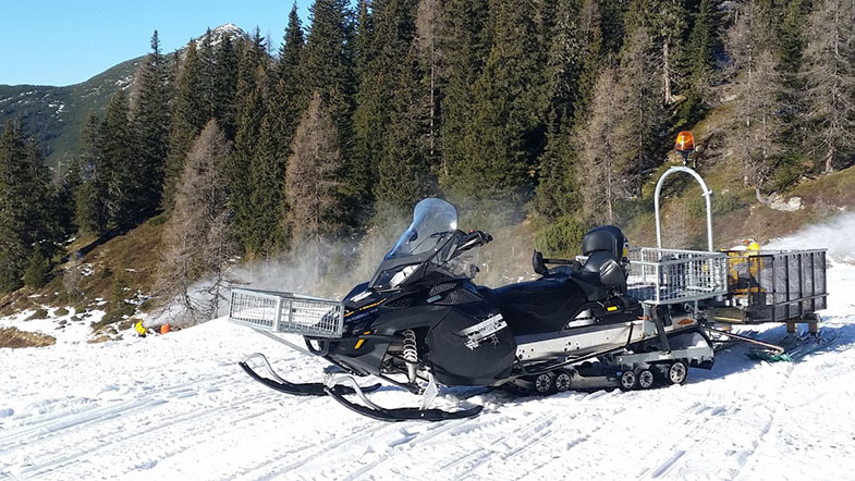 Ski-Doo Transporting Supplies