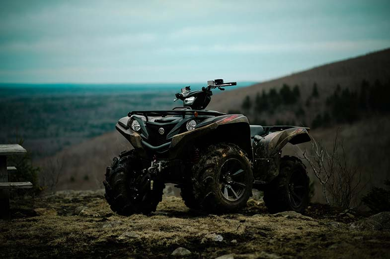 ATV Parked on Hill