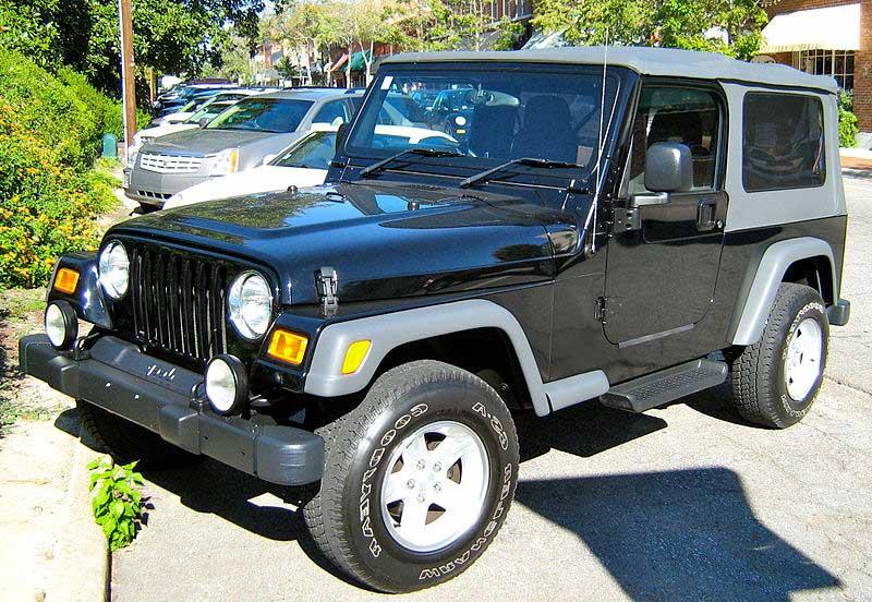 Jeep Wrangler Unlimited Black Soft Top