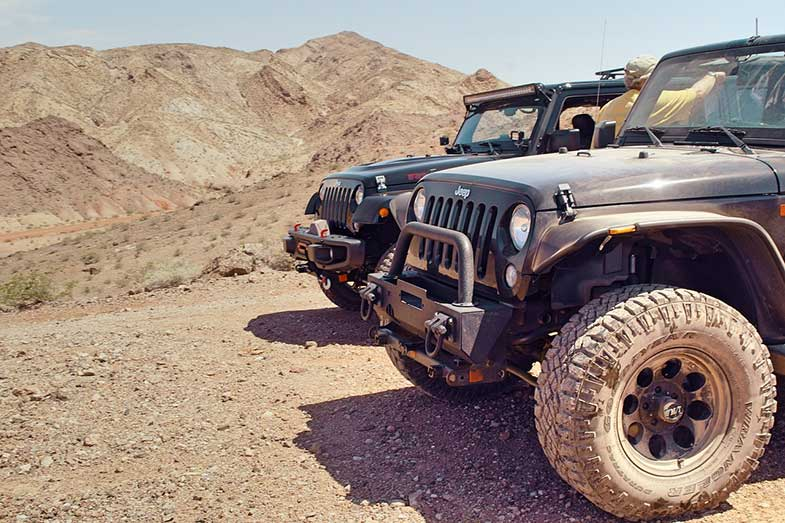 Used Off-Road Dirty Jeep Wranglers