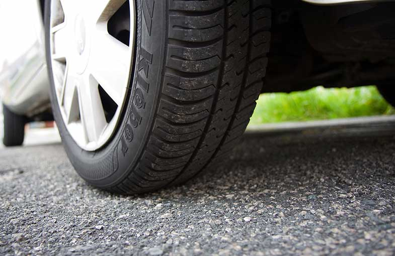 Close up of a Car Tire