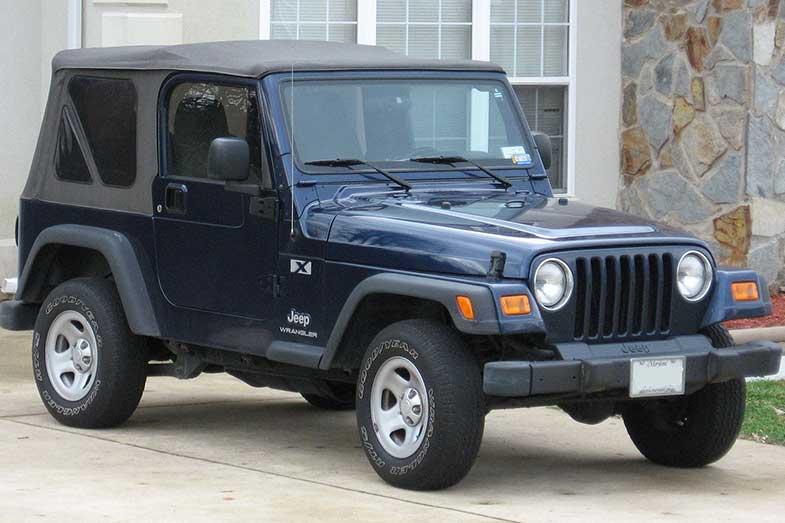 Dark Blue Jeep Wrangler TJ