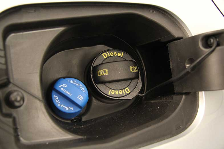 Diesel Cap on Car