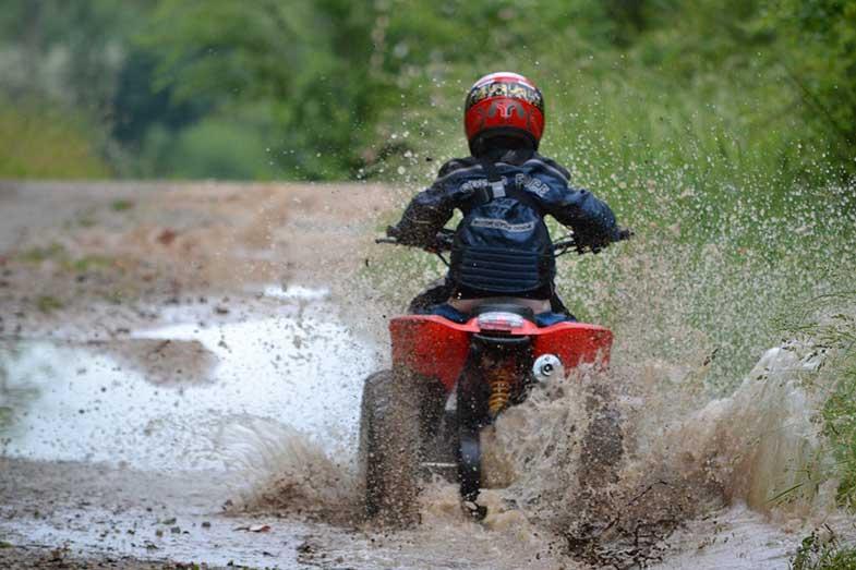 Kid Riding ATV