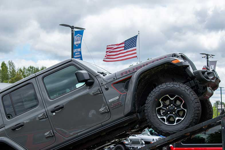 New Dark Gray Jeep Wrangler Recon in Lot