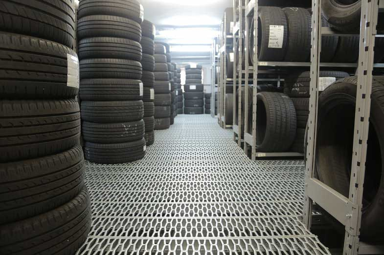 Stack of Rubber Tires