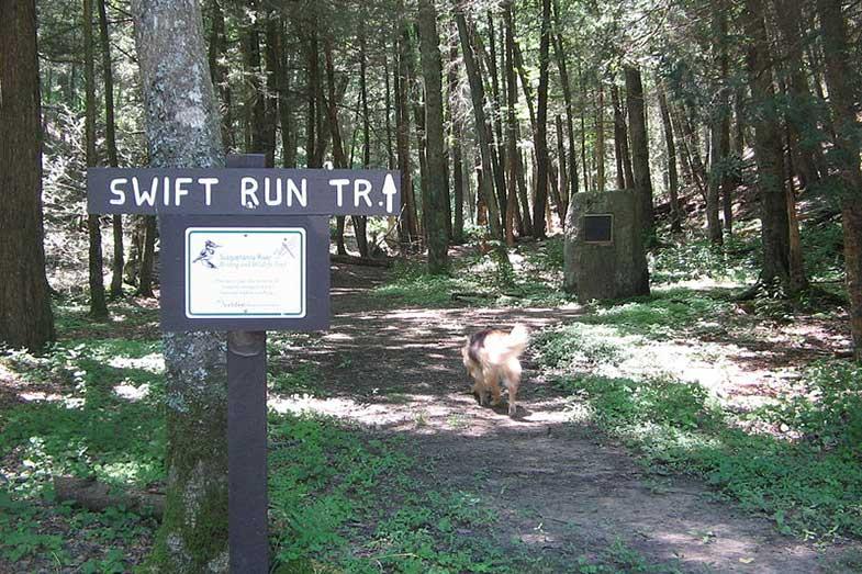 Swift Run Trail PA Sign