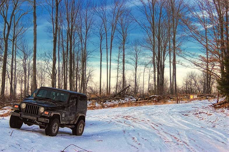 Jeep in Wyoming County Pennsylvania