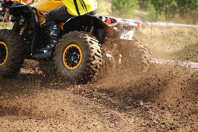 All Terrain Quad in Dirt