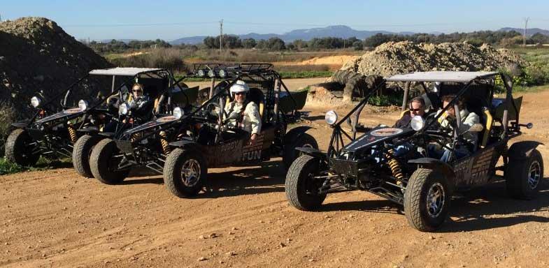 ATVs Off-Road in Dirt Park