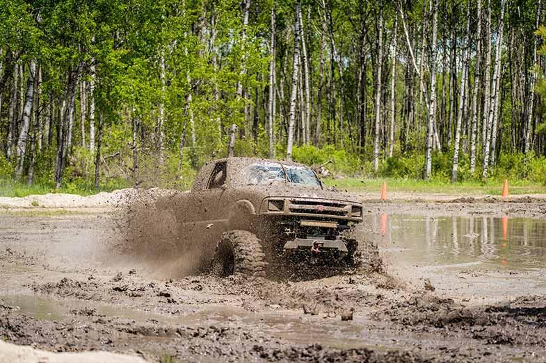 Dirty Truck in a Mud Bog
