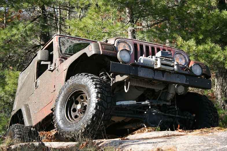 Jeep Off-Road Rocky Terrain