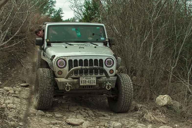 Off-Road Jeep Trail Texas