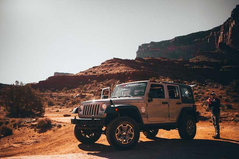 Jeep in Utah USA