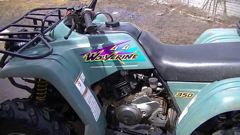Yamaha Wolverine 350 4x4 ATV Quad