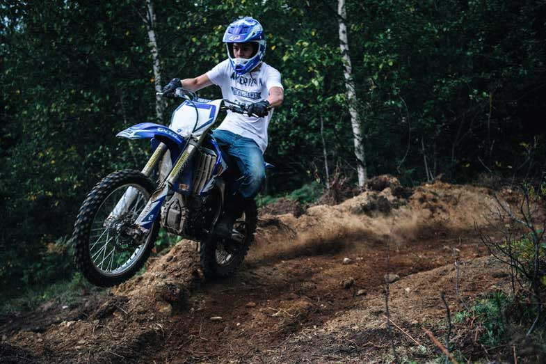 Dirt Bike Trail Blue Motorcycle