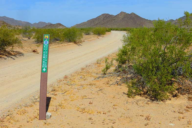 El Camino Del Diablo Road Sign