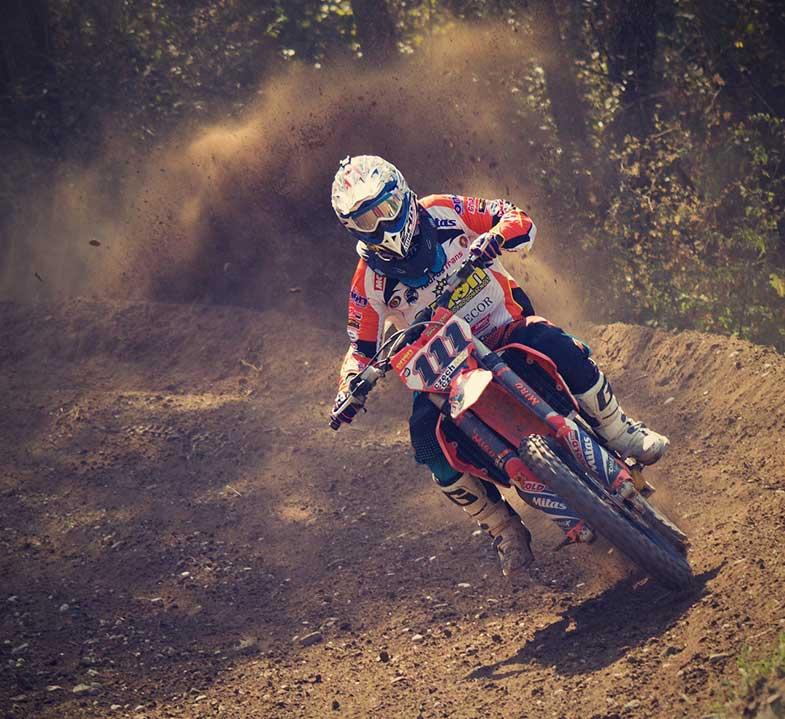 Motocross Rider Dirt Bike Track