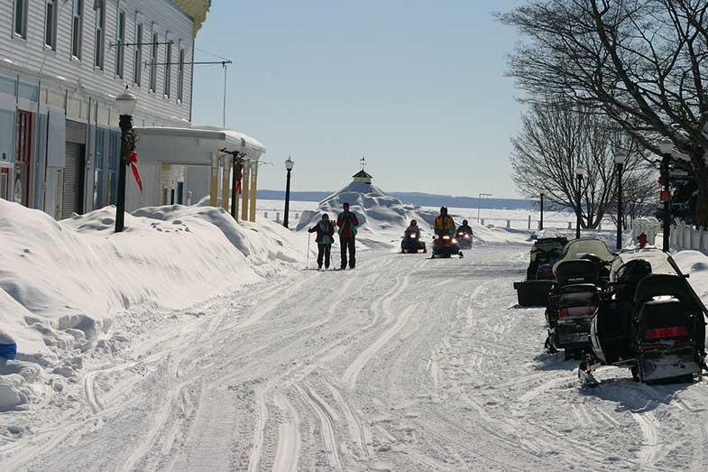 Snowmobile Mackinac Island Michigan