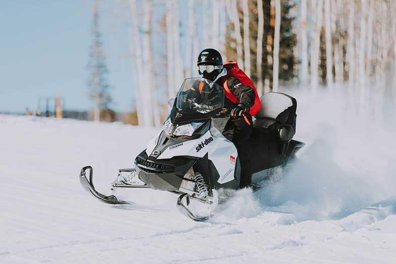 Snowmobile Riding
