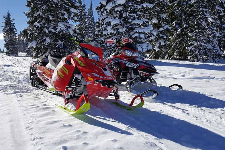 Two Snowmobiles in Colorado