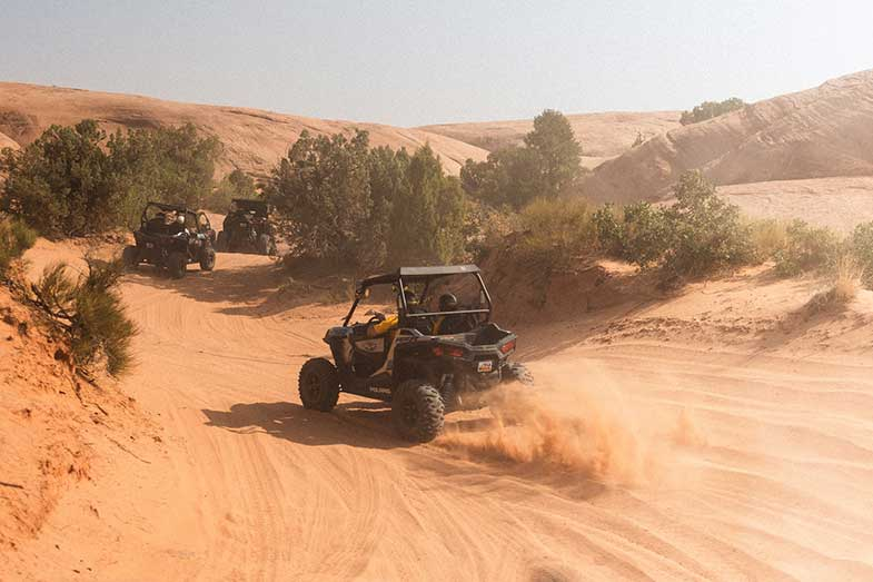 Dune Buggy Driving on Sand