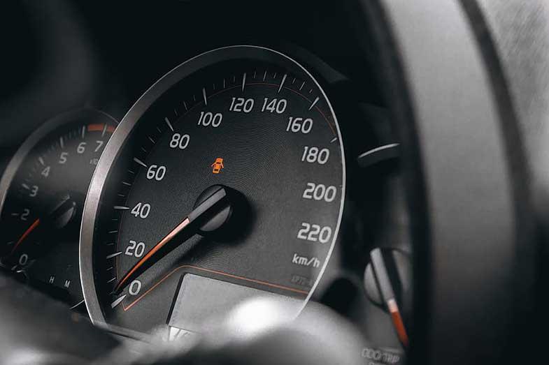 Vehicle Instrument Cluster Speedometer