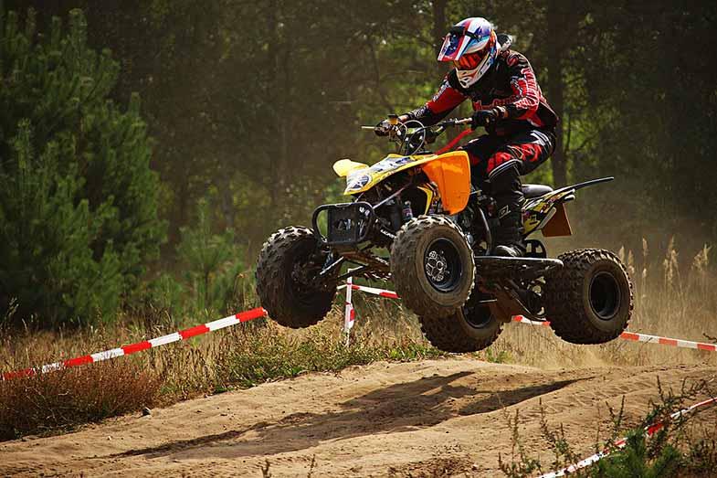 Yellow ATV Quad Jump