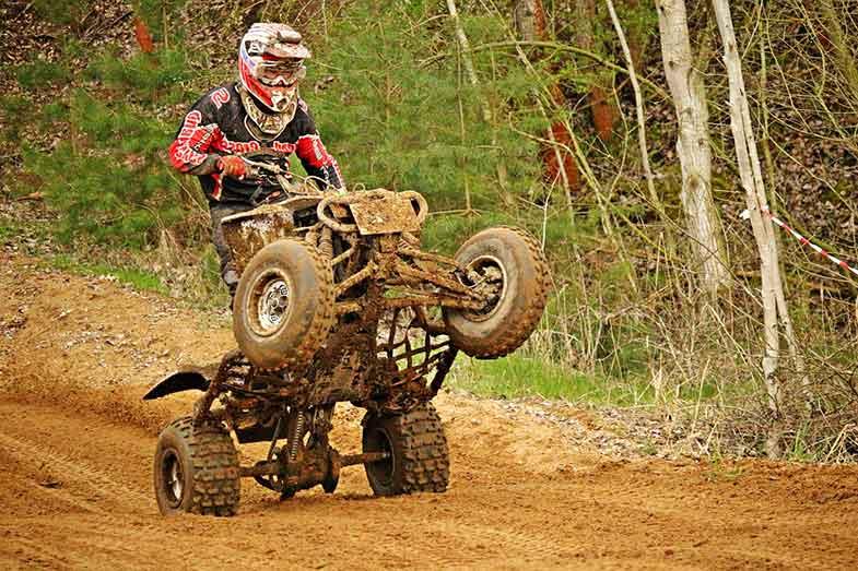 ATV Quad Wheelie