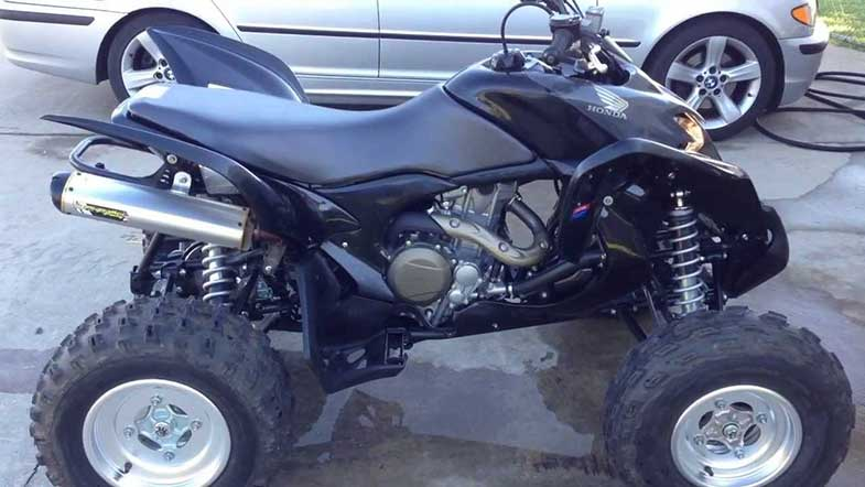 Black Honda 700XX ATV