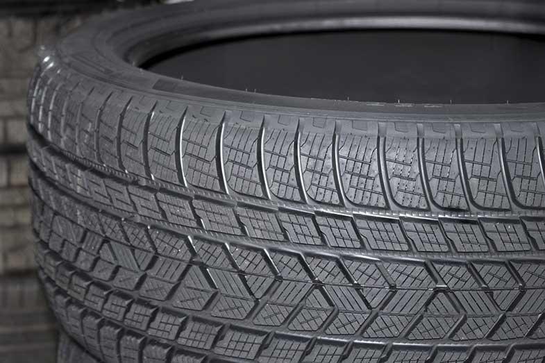 Car Tire Closeup