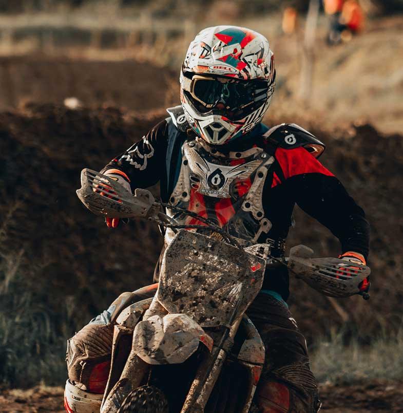 Dirt Bike Rider Front View