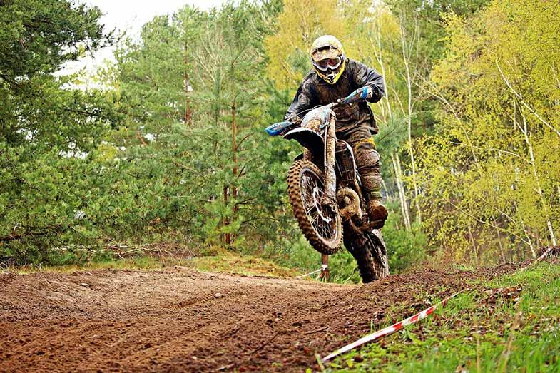 Dirt Bike Track Hill Jump