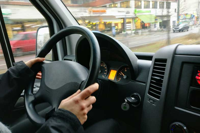 Instrument Cluster Person Driving