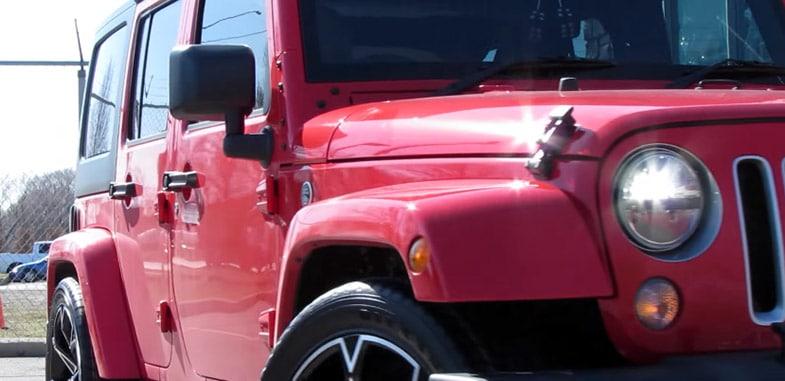 Lowered Jeep Wrangler