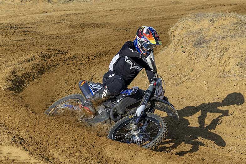 Motocross Dirt Bike Track Turn