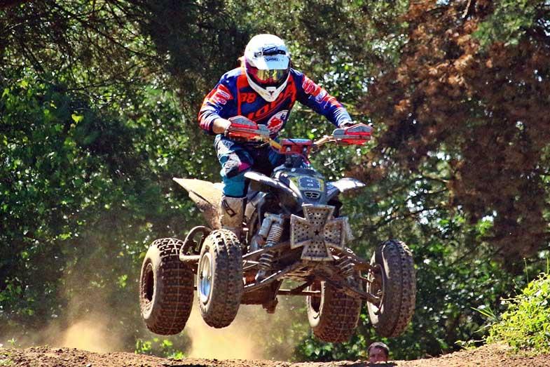 ATV Quad Enduro Hill Jump