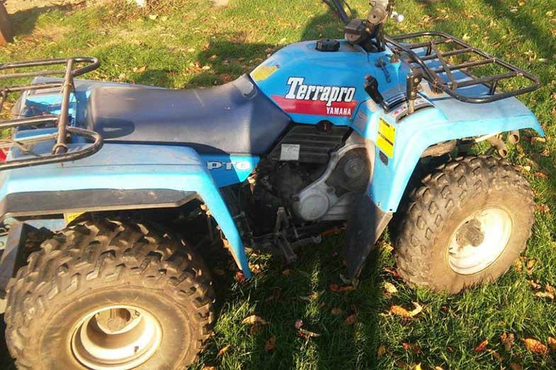 Blue 1988 Yamaha Terrapro PTO ATV