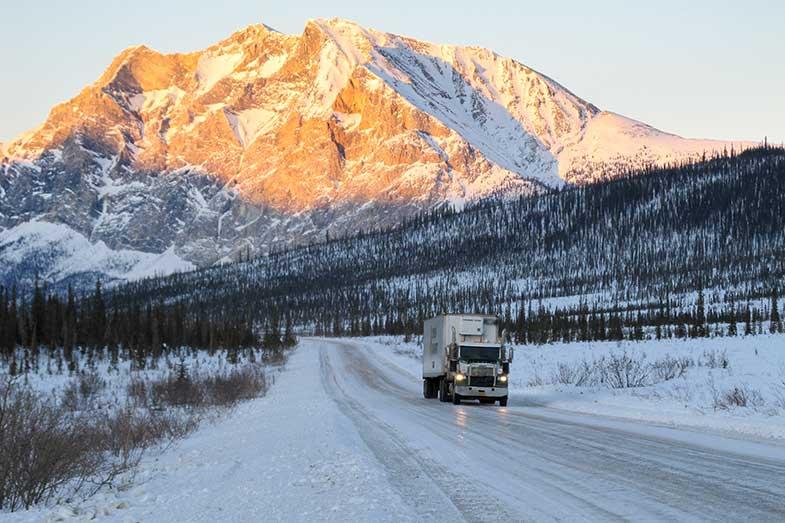 Dalton Highway Snowy Road Truck