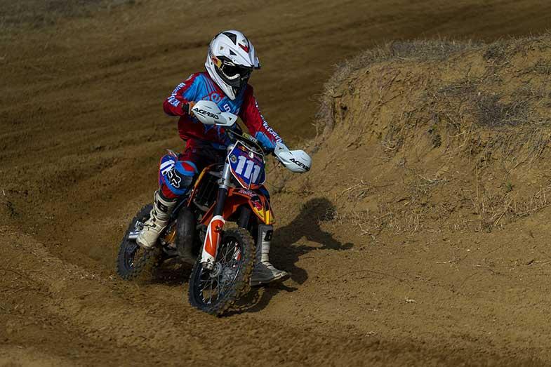 Dirt Bike Track Rider Turning Corner