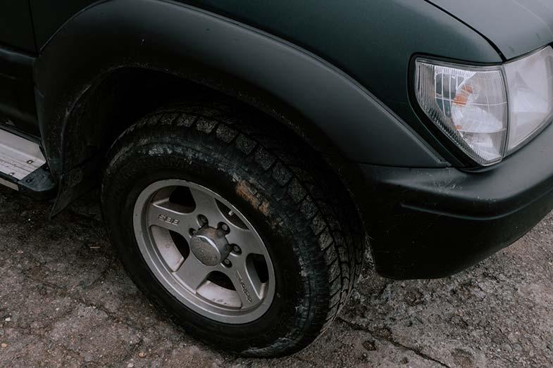 Green Car Tire