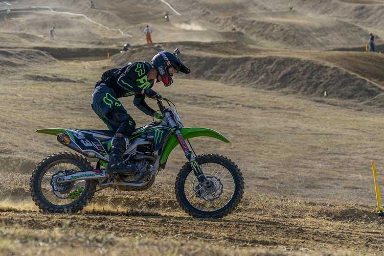 Green Dirt Bike Motocross Rider