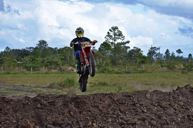 Motocross Dirt Bike Rider Jump
