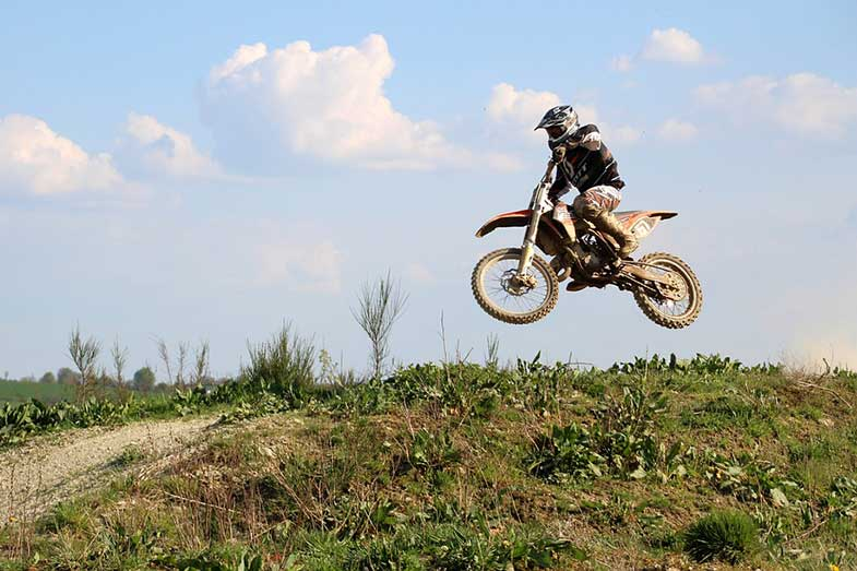 Motorcycle Dirt Bike Rider Trail Jump