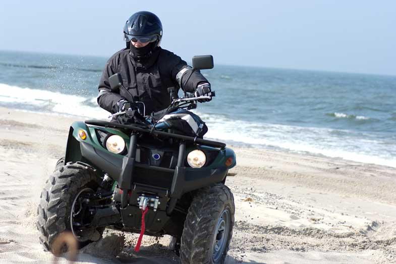 Yamaha Grizzly Quad on the Beach